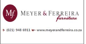 Tel : 021 948 6911 www.meyerandferreira.co.za